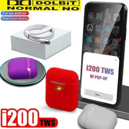 I200 TWS оригинальные наушники A2 Smart Senor 1:1 Размер  5,0 Bluetooth