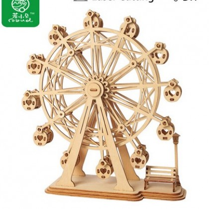 3D DIY Craft Ferris Wheel Puzzle Game Wooden Model.