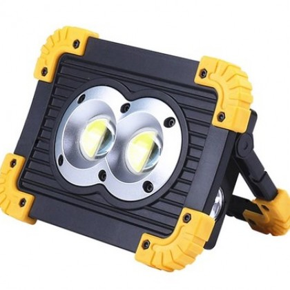 100W Led Portable Spotlight 10000lm Super Bright Led Work Light Rechargeable.