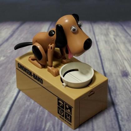 Электронная копилка  собачка, поедающая монеты