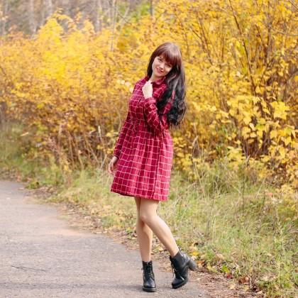 Милое платье в клетку Alyaboomty