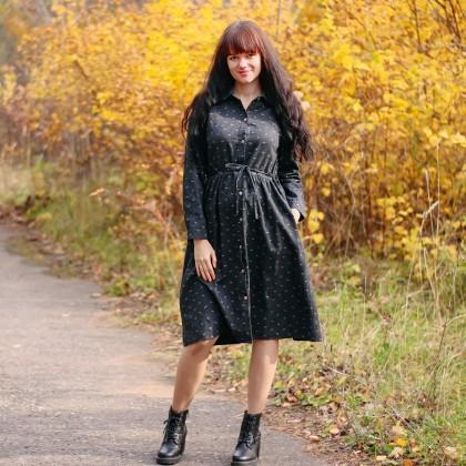 Теплое платье Alyaboomty