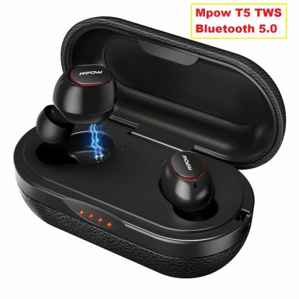 Mpow T5 TWS Bluetooth 5.0 Наушники 3D Стерео