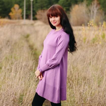 Трикотажное платье-трапеция SMTHMA