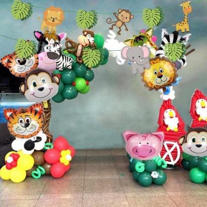 Шарики с животными на день рождения.
