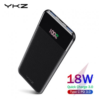 Power Bank YKZ 10000mah 18W с поддержкой QC3.0