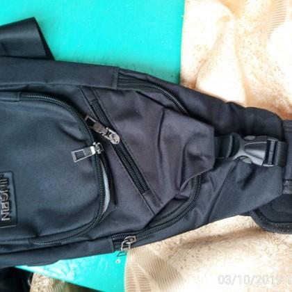 Мужская парусиновая сумка на плечо