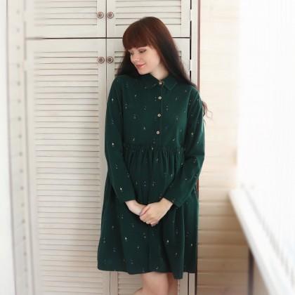 Очаровательное вельветовое платье Alyaboomty