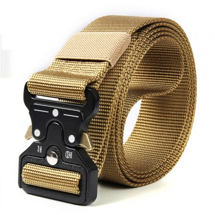 Military Tactical Nylon Belt Metal Buckle Adjustable Army Belt
