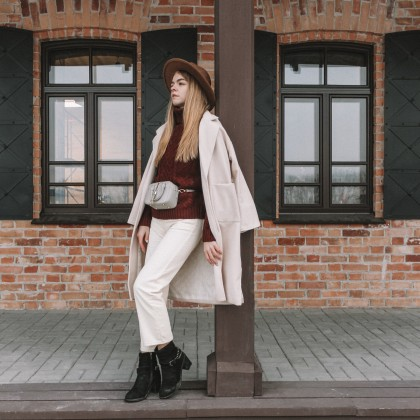 Белые джинсы-бойфренды с Алиэкспресс