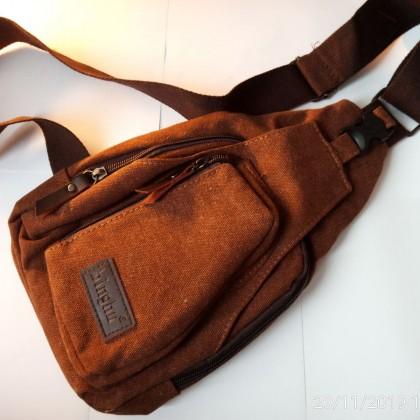 Холщовая мужская сумка через плечо