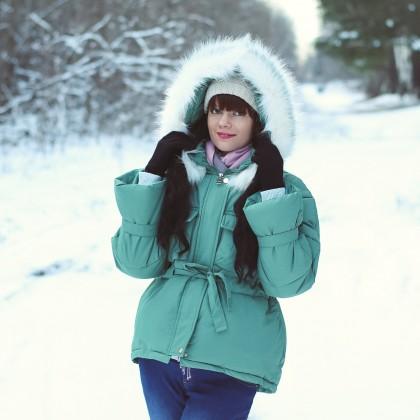 Хорошенькая куртка с капюшоном Xiaoxiao