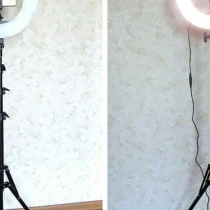 Anillo de luz LED en un trípode por Travor