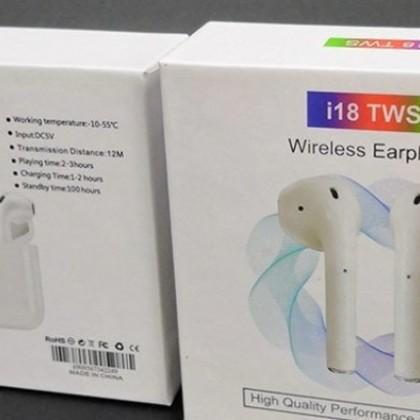 AirPods 2 TOP FONES DE OUVIDO i18 TWS FONE DE OUVIDO Bluetooth sem fio