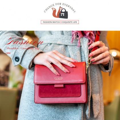 Стильная сумка с натуральной кожи от магазина FOXER official store. Новогодние скидки! Цена 30,35.