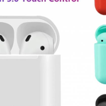 i12 TWS fone de ouvido com controles de sensor 1: 1 AirPods Bluetooth da Apple 5,0
