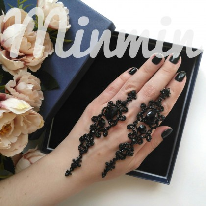 Винтажные длинные серьги от бренда Minmin