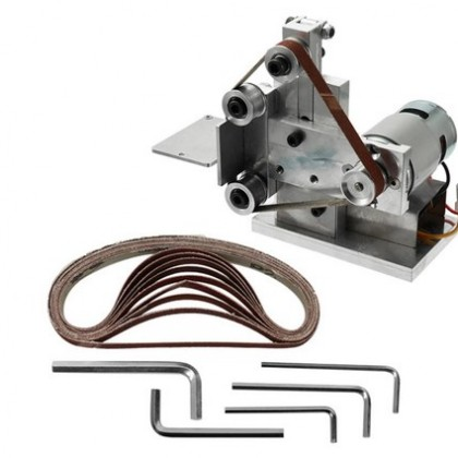 Multifunctional Mini Electric Belt Sander Polishing Grinding Machine.