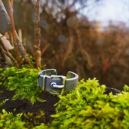 Стильное серебряное кольцо с Алиэкспресс.