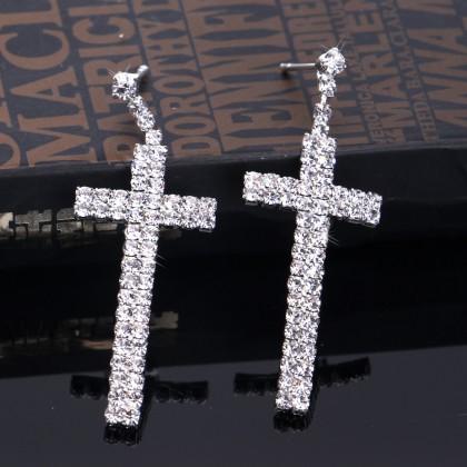Шикарные серьги -кресты от BLIJERY