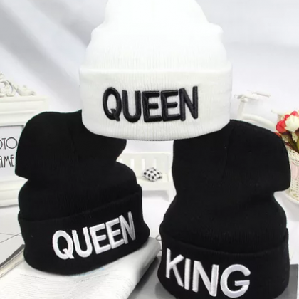 King and Queen Beanie Caps for men and women