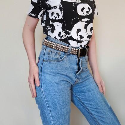 Кожаный ремень с заклёпками от fashionaccessoriesclub Store