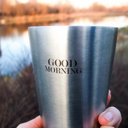 Брутальный стакан с добрым пожеланием