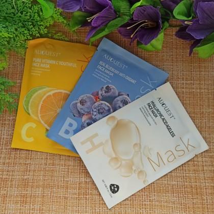 Питательные маски для лица от AuQuest.