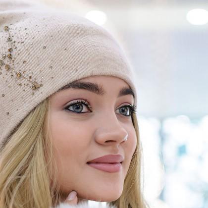 Симпатичная шапочка со стразами с AliExpress