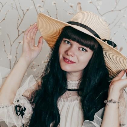 Широкополая соломенная шляпа LONSUNNOR