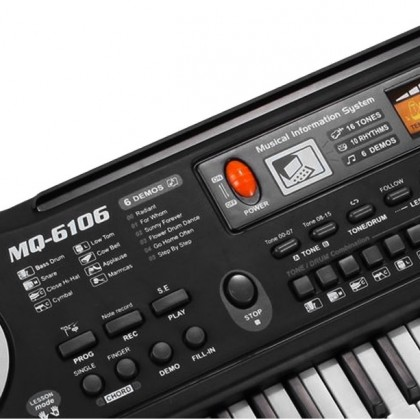 Многофункциональная электронная клавиатура-пианино с микрофоном