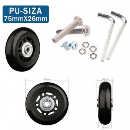 Luggage wheels repair new universal wheels replacement.