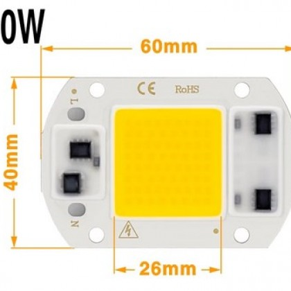 30W LED COB Lamp Chip LED powered by 220V.