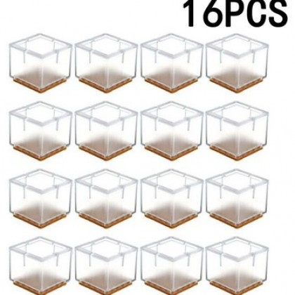 16pcs Silicone Chair Leg Cap Table Feet Covers Floor Protectors.