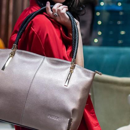 Кожаная сумка Foxer