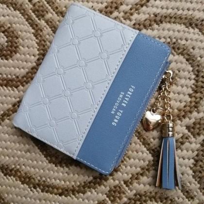 Компактный симпатичный женский кошелёк с надписью forever young