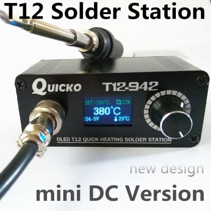 Лучшая компактная паяльная станция Quicko T12-942 MINI.