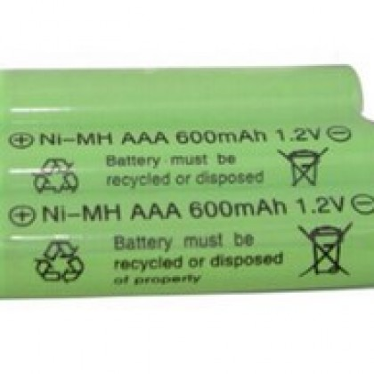 3psc/lot 1.2v 600mah AAA remote control toy rechargeable NI-MH rechargeable battery.