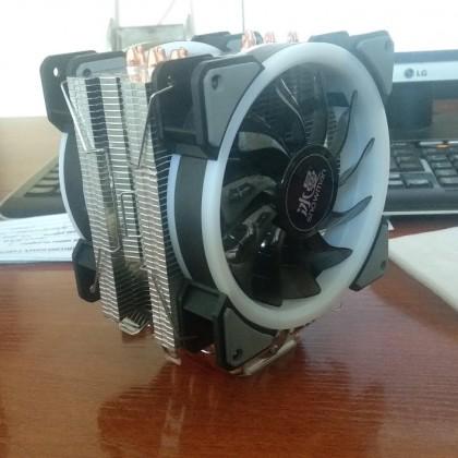 ТОП БАШНЯ ДЛЯ CPU Snowman 4PIN 6 тепловых трубок и х2 RGB куллера 12 см. с Aliexpress
