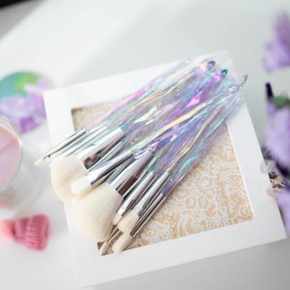 Кристальные кисти для макияжа, набор 10шт