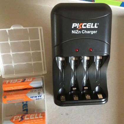 супер батарейки AAA и AA с перезарядным устройством PKCELL!!!