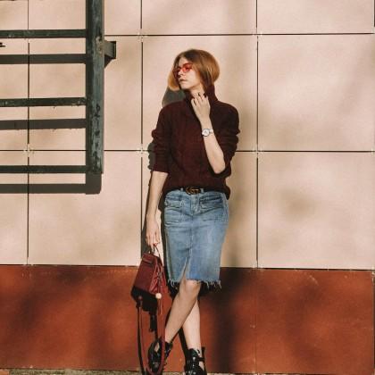 Крутая джинсовая юбка с Алиэкспресс
