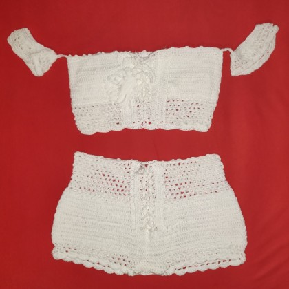 Knitting/ Crochet Swimsuit - Bikini Set