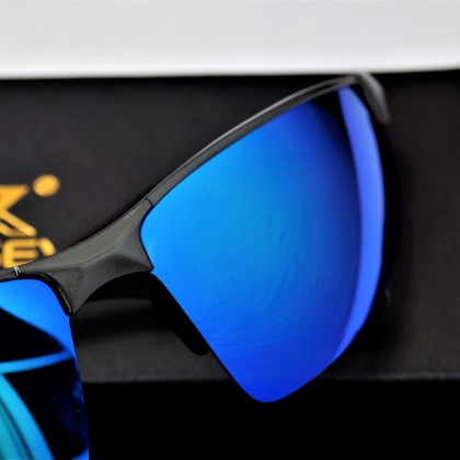 KINGSEVEN  Поляризационные алюминиевые солнцезащитные очки- синяя зеркальная линза