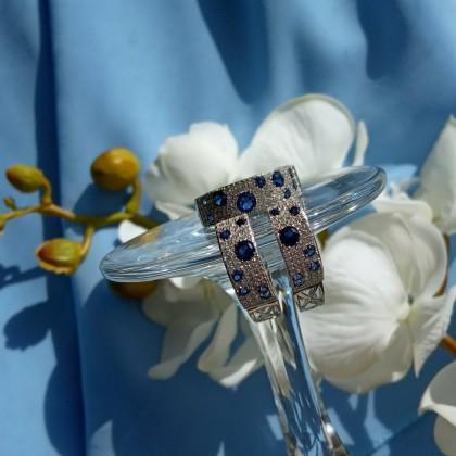 Изумительный комплект украшений из серебра с Алиэкспресс.