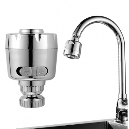 360 Degree Water Tap Splash Filter Diffuser Kitchen Tap Nozzle.