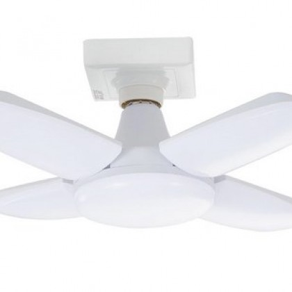 E27 Led Bulb Ceiling Fan Creative Led Lamp 85-265V Foldable Fan Blade.