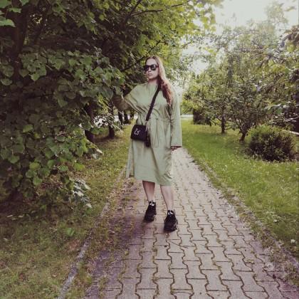 Любимое платье и весь образ целиком с Алиэкспресс.