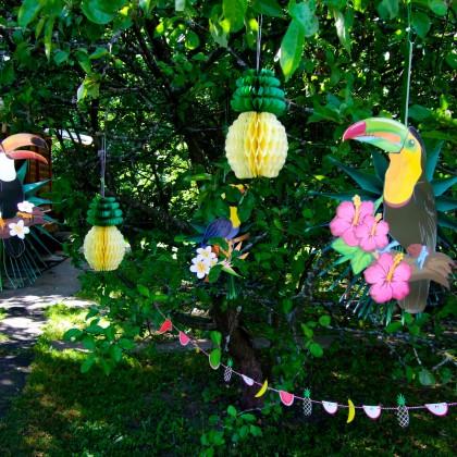 Тропический декор для праздника