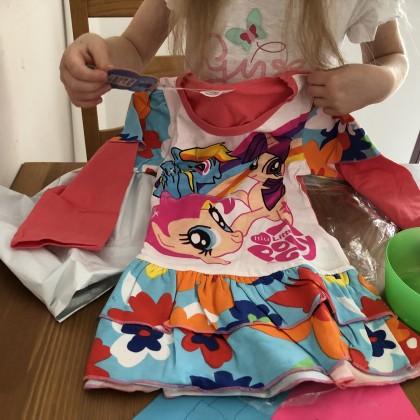 Платье для любимой дочуньки за 350 рублей не требующее глажки!